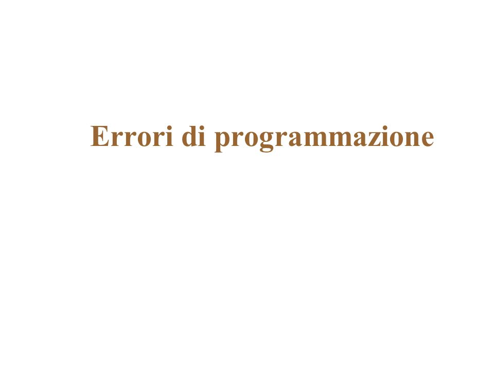 Luso delle variabili public class Coins3 { public static void main(String[] args) { int lit = 15000; // lire italiane double euro = 2.35; // euro double dollars = 3.05; // dollari // calcola il valore totale // sommando successivamente i contributi double totalEuro = lit / 1936.27; totalEuro = totalEuro + euro; totalEuro = totalEuro + dollars * 0.93; System.out.print( Valore totale in euro ); System.out.println(totalEuro); }