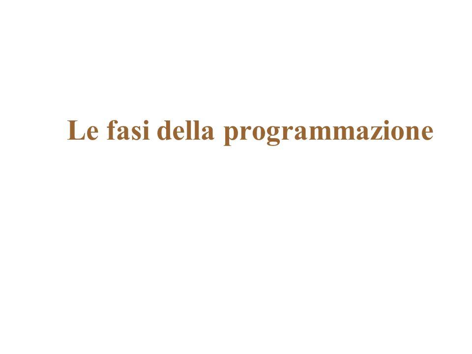 Le fasi della programmazione