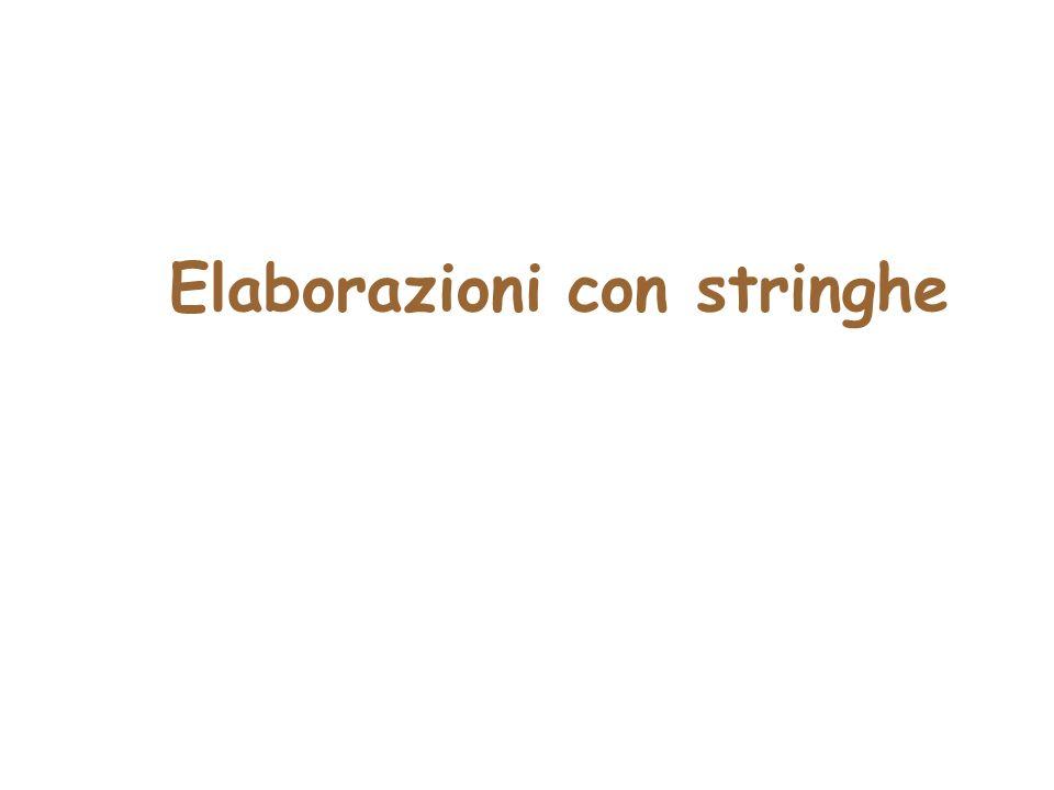 Elaborazioni con stringhe