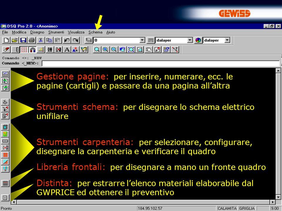 19 … Ora è possibile inserire i simboli dei componenti elettrici per realizzare lo schema elettrico unifilare SCHEMA