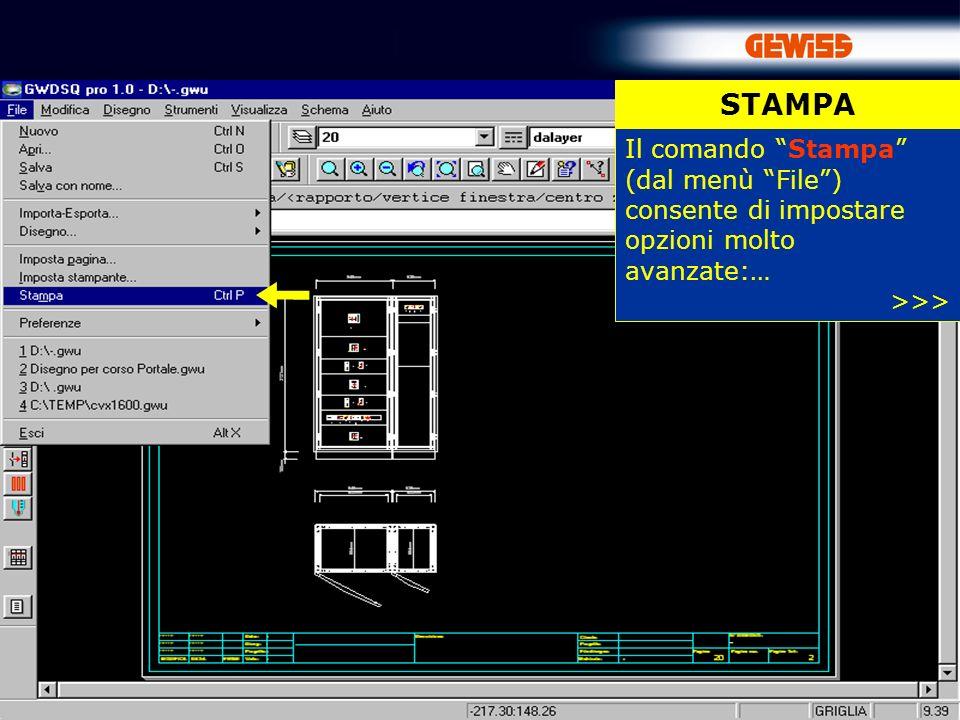 81 STAMPA Il comando Stampa (dal menù File) consente di impostare opzioni molto avanzate:… >>>