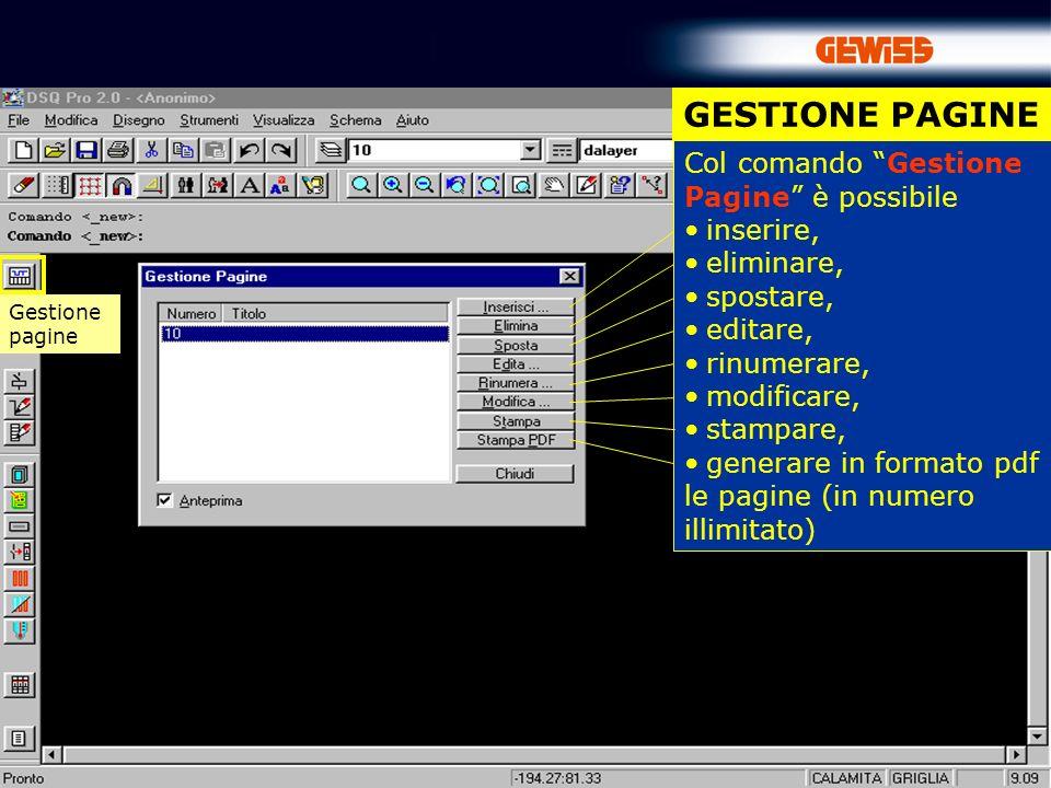 60 CARPENTERIA … una volta selezionato il file GWPBT che si desidera importare, GWDSQpro costruisce automaticamente nel suo dominio uno schema elettrico unifilare equivalente.