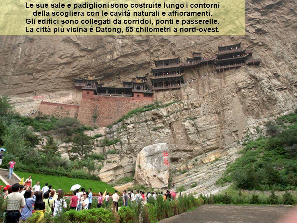 Si Xuan Kong: Monastero cinese buddista. Il Tempio Hanging (sospeso) è costruito su una scogliera a strapiombo del Jinlong Canyon, vicino al Monte Hen