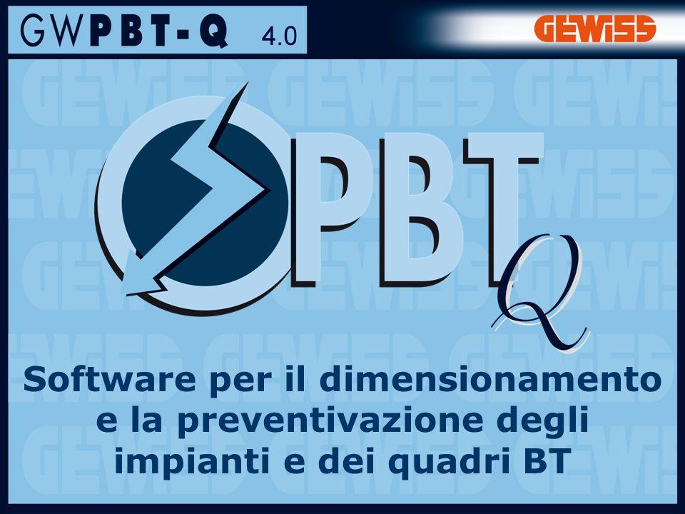 1 Software per il dimensionamento e la preventivazione degli impianti e dei quadri BT