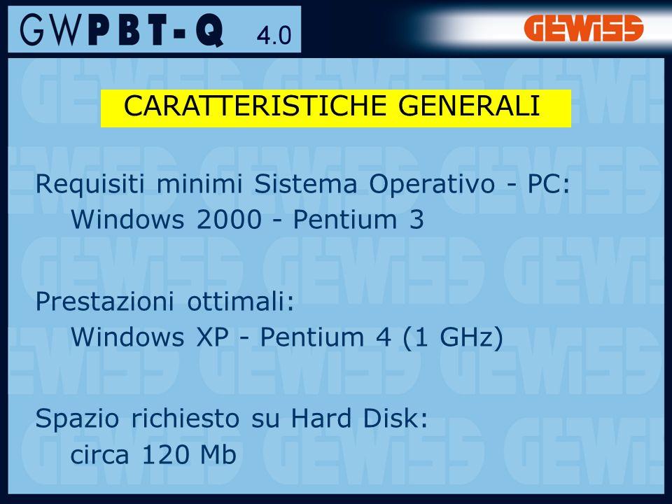4 Requisiti minimi Sistema Operativo - PC: Windows 2000 - Pentium 3 Prestazioni ottimali: Windows XP - Pentium 4 (1 GHz) Spazio richiesto su Hard Disk: circa 120 Mb CARATTERISTICHE GENERALI