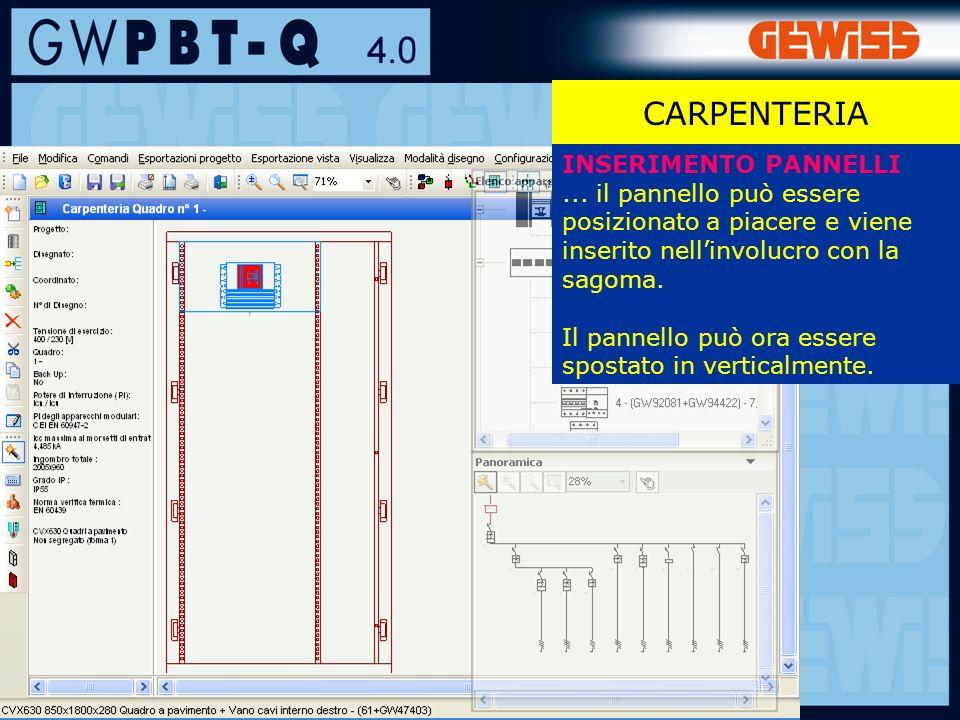 87 CARPENTERIA INSERIMENTO PANNELLI...