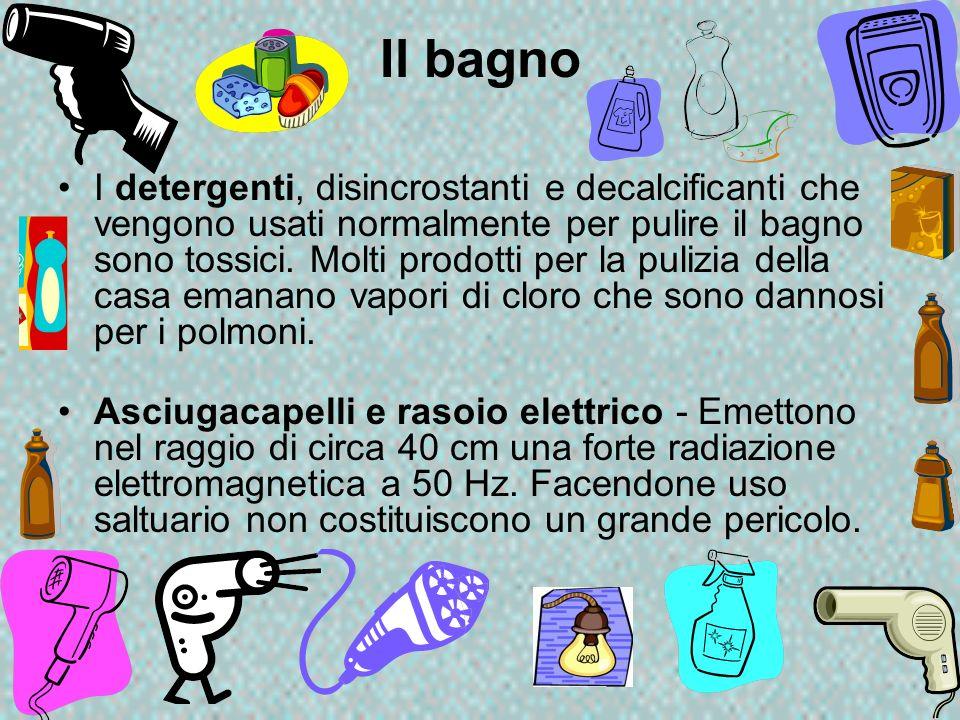 Il bagno I detergenti, disincrostanti e decalcificanti che vengono usati normalmente per pulire il bagno sono tossici. Molti prodotti per la pulizia d
