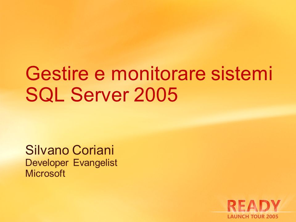 SQL Server Surface Area Configuration Silvano Coriani Developer Evangelist Microsoft