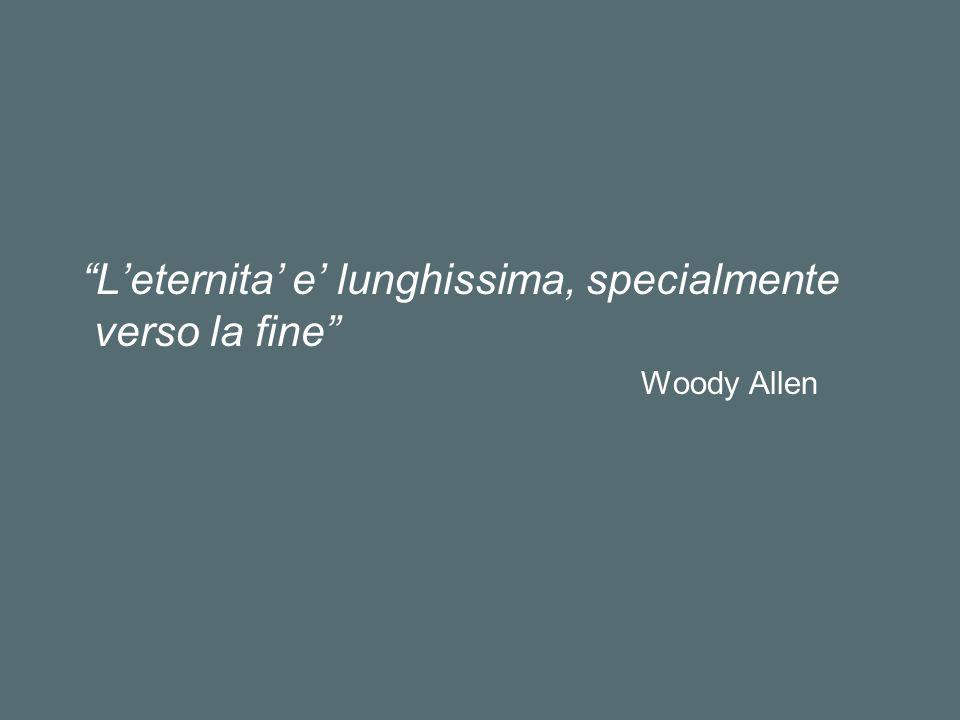 Leternita e lunghissima, specialmente verso la fine Woody Allen