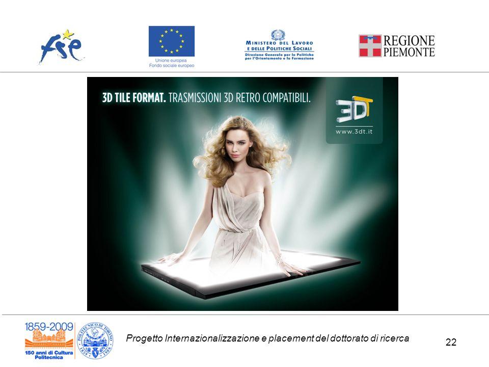Progetto Internazionalizzazione e placement del dottorato di ricerca 22