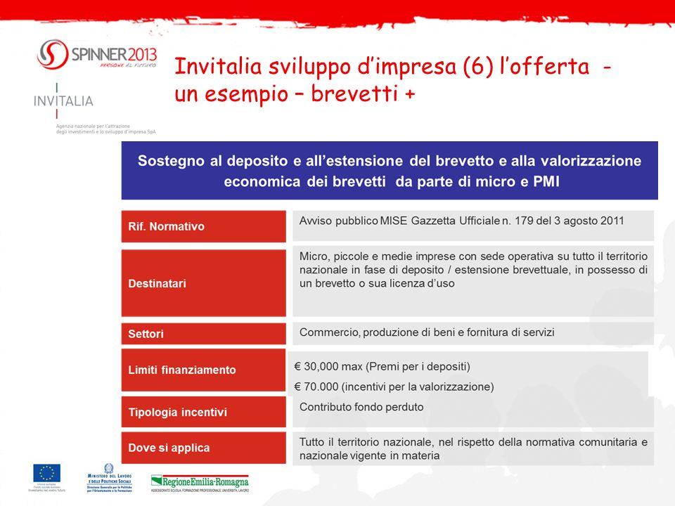 Invitalia sviluppo dimpresa (7) lofferta - un esempio – smart & start DM 6 marzo 2012 – D.L.