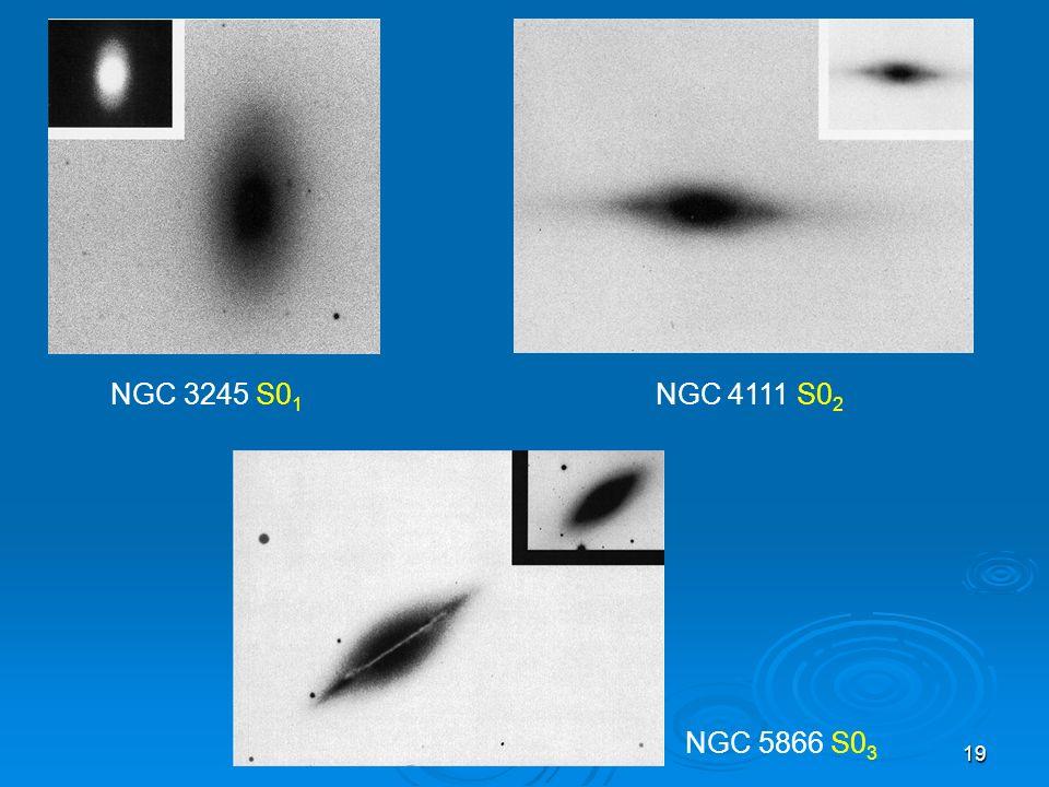 19 NGC 5866 S0 3 NGC 3245 S0 1 NGC 4111 S0 2