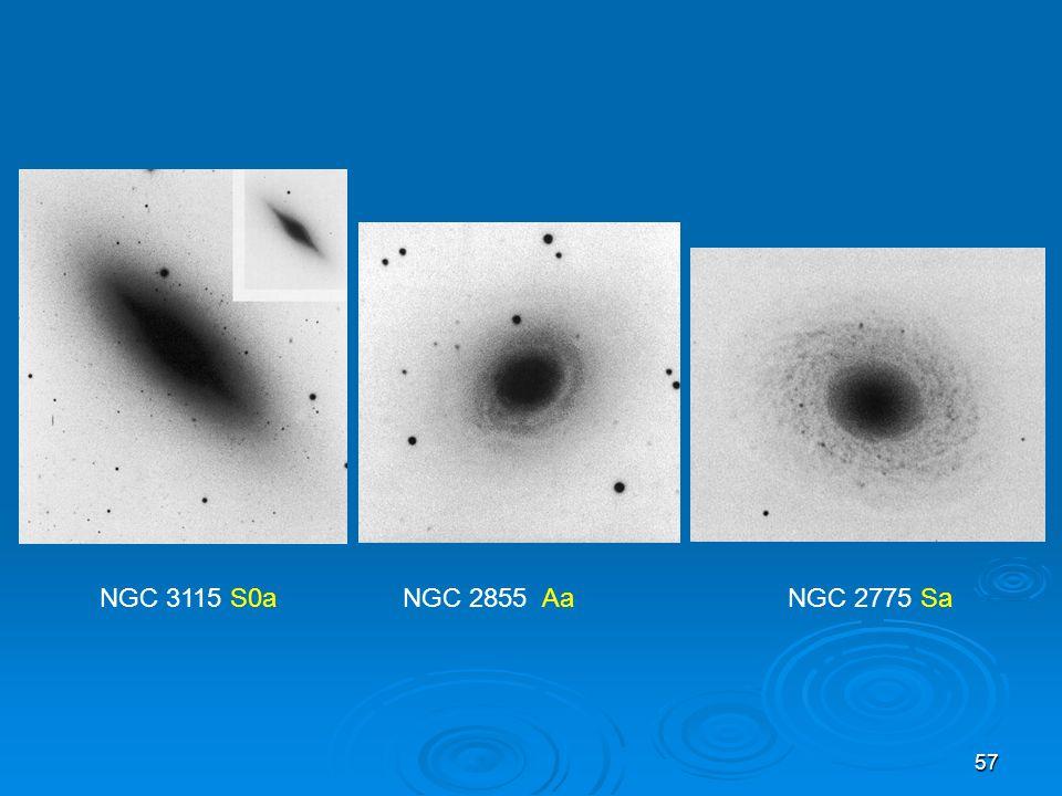 57 NGC 3115 S0a NGC 2855 Aa NGC 2775 Sa