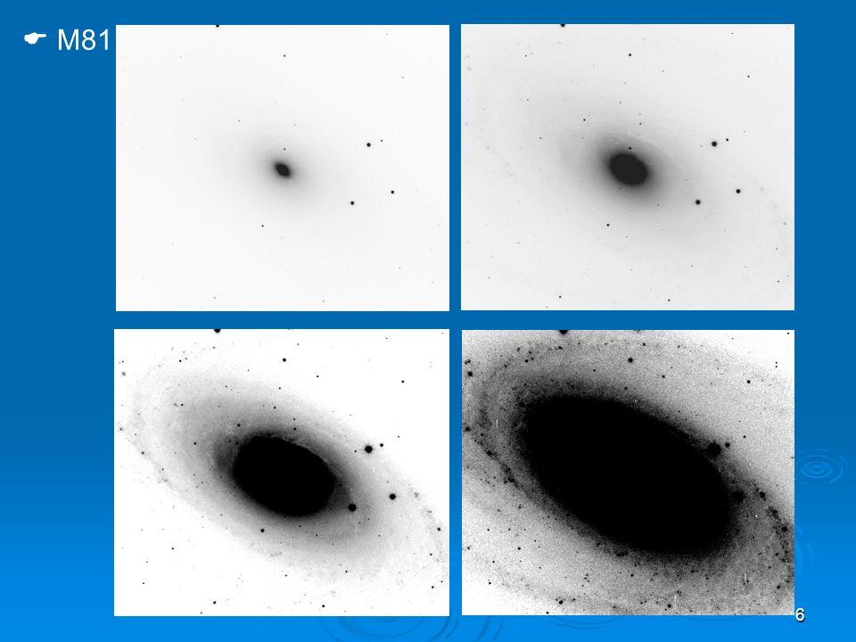 37 de Vaucouleurs: tipo T La posizione di una galassia lungo lasse principale della classificazione può essere espressa tramite il numero T (Hubble stage) HubbleEE-S0S0/aSaSa-bSbSb-cScIrrI de Vauc.EE+E+ S0 - S0S0 + S0/aSaSabSbSbcScScdSdSdmSmIm T-5-4-3-2012345678910
