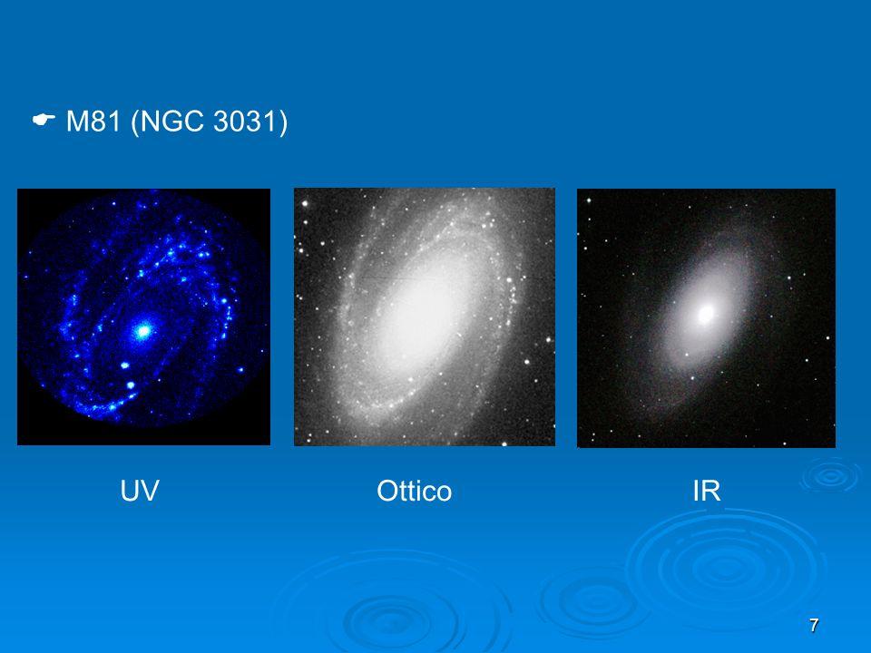18 Due componenti: sferoide centrale (bulge) e disco senza evidenza di bracci di spirale Due sottoclassi: normali (S0) e barrate (SB0) I sottotipi S0 1, S0 2, S0 3 sono definiti dalla: - prominenza delle polveri nel disco I sottotipi SB0 1, SB0 2, SB0 3 sono definiti dalla: - prominenza delle polveri e della barra Hubble: galassie lenticolari