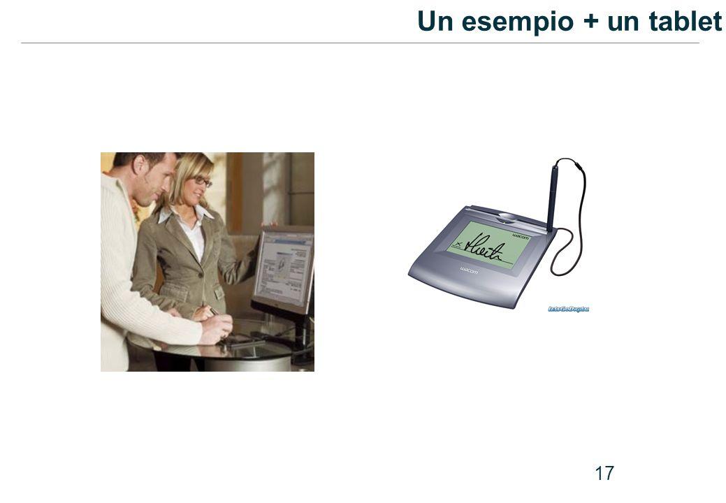 17 Un esempio + un tablet