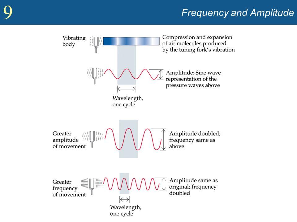9 Intensity and Loudness (contd) Psicoacustica: –Rumore bianco: Un suono in cui tutte le frequenze sono presenti nella stessa quantità.