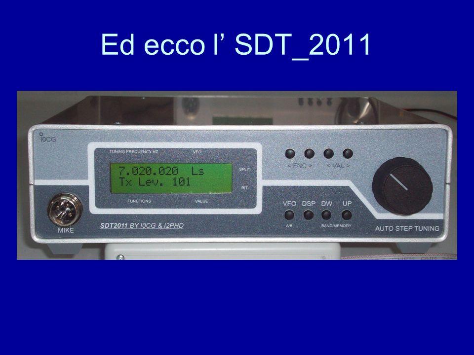 Ed ecco l SDT_2011
