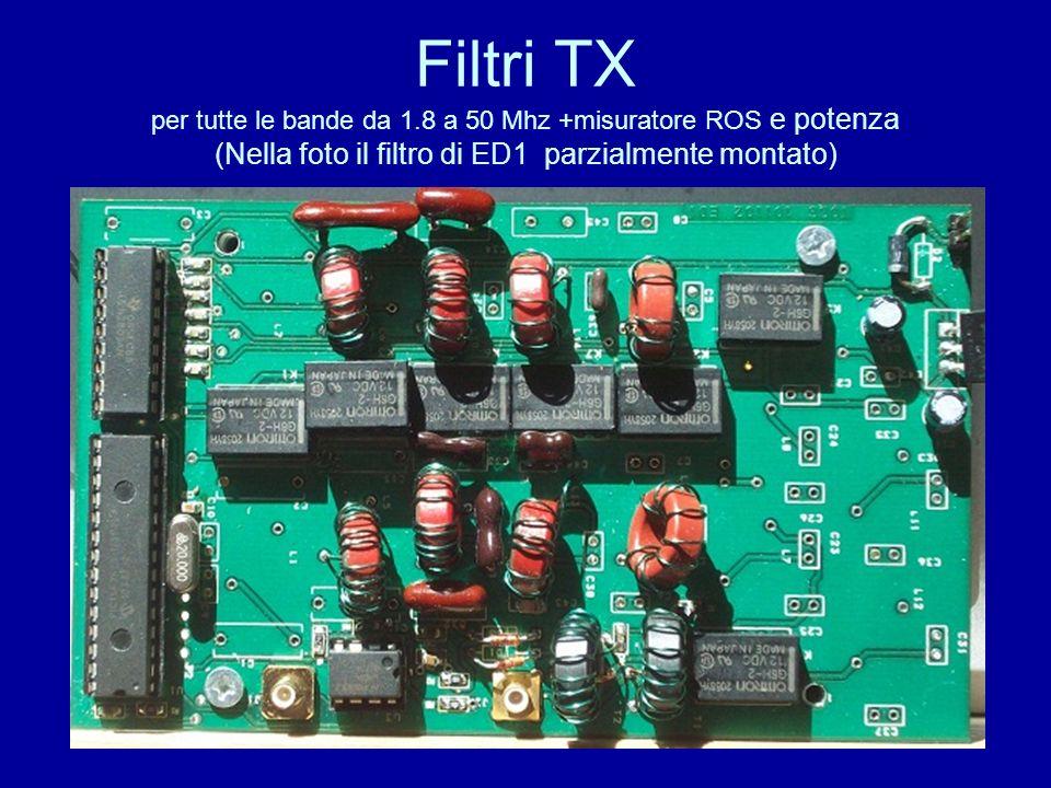 Filtri TX per tutte le bande da 1.8 a 50 Mhz +misuratore ROS e potenza (Nella foto il filtro di ED1 parzialmente montato)