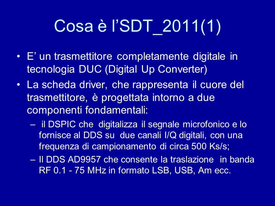 Cosa è lSDT_2011(1) E un trasmettitore completamente digitale in tecnologia DUC (Digital Up Converter) La scheda driver, che rappresenta il cuore del