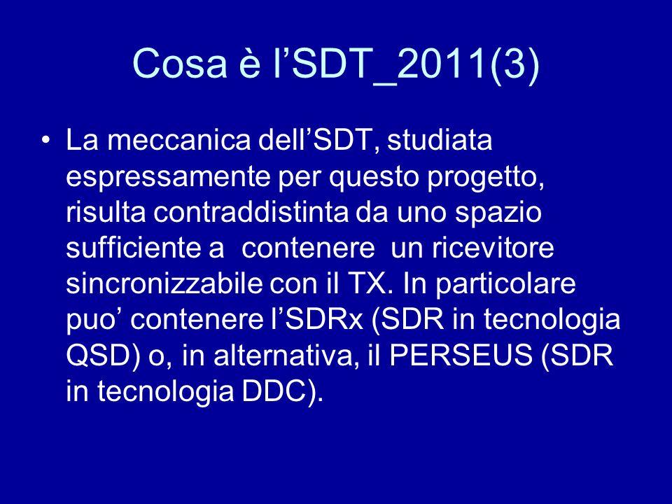 Cosa è lSDT_2011(3) La meccanica dellSDT, studiata espressamente per questo progetto, risulta contraddistinta da uno spazio sufficiente a contenere un