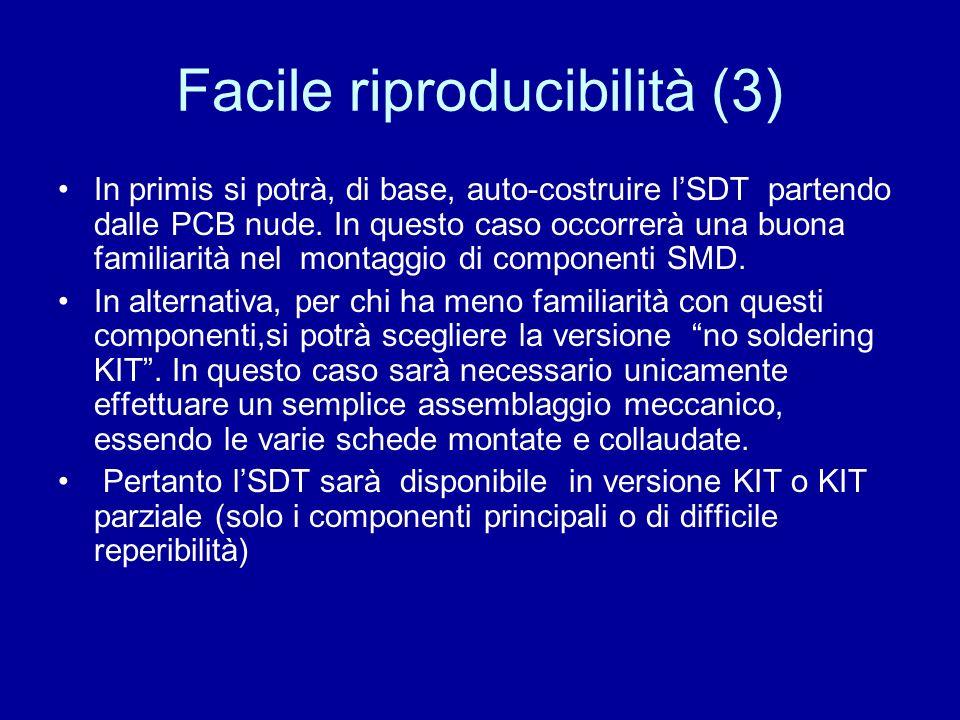 Facile riproducibilità (3) In primis si potrà, di base, auto-costruire lSDT partendo dalle PCB nude. In questo caso occorrerà una buona familiarità ne