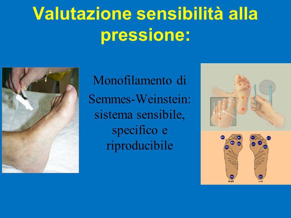 Valutazione sensibilità alla pressione: Monofilamento di Semmes-Weinstein: sistema sensibile, specifico e riproducibile