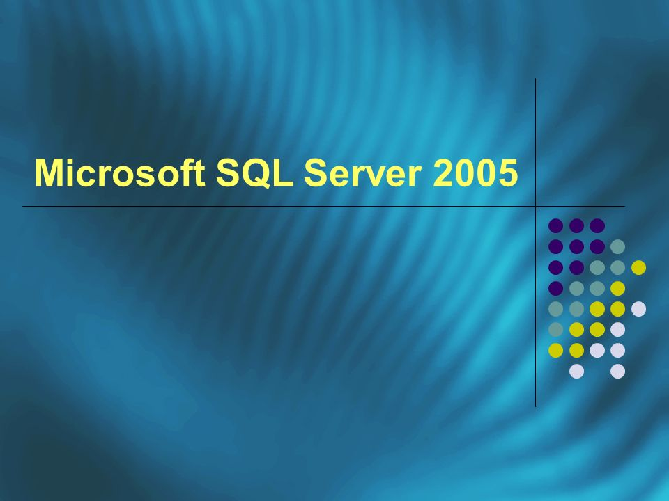 Versioni di Microsoft SQL Server 2005 SQL Server EXPRESS Edition SQL Server MOBILE Edition SQL Server WORGROUP Edition SQL Server STANDARD Edition SQL Server ENTERPRISE Edition SQL Server DEVELOPER Edition