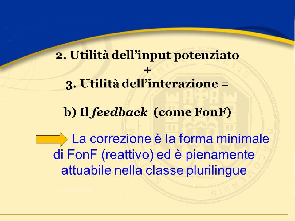 2. Utilità dellinput potenziato + 3.