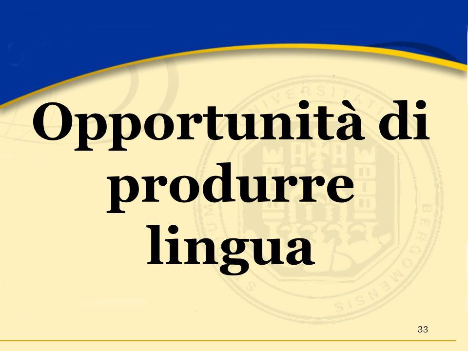 Opportunità di produrre lingua 33