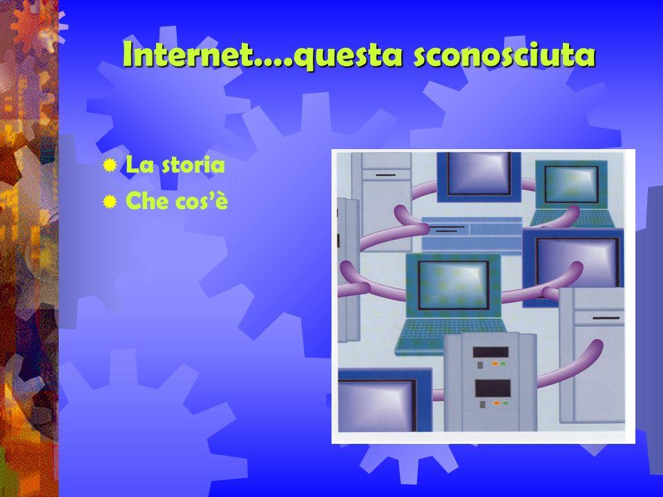 INTERNET: alcuni aspetti INTERNET….QUESTA SCONOSCIUTA INTERNET VISTA DA VICINO I NUMERI DI INTERNET LIMPORTANZA DI ESSERE IN INTERNET CON UN PROPRIO SITO ASIACOM