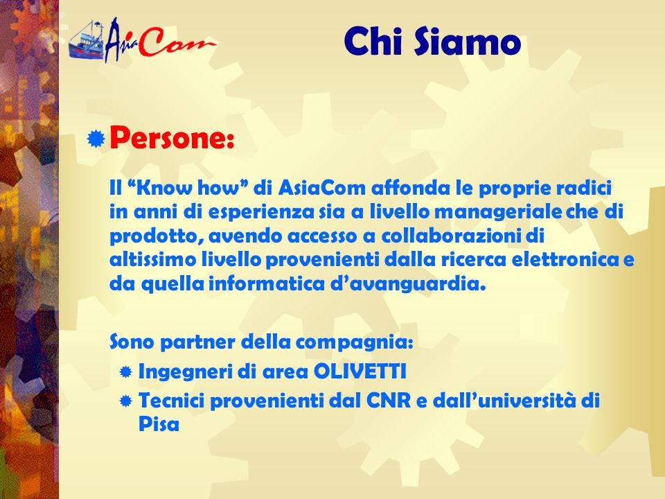Direzione: Chi Siamo Ciro Lanzetta:cirolanz@asiacom.it 0349 0835833 Michela Meazzini:mimea@asiacom.it 0349 0835832 Paolo Meoni:paome@asiacom.it 0348 3022074 Elena Pipeschi:epi@asiacom.it 0349 0835834