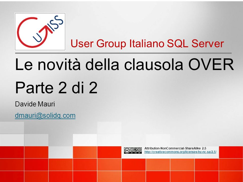 Speaker Microsoft SQL Server MVP Works with SQL Server from 6.5 Works on BI from 2003 Specialized in Data Solution Architecture, Database Design, Performance Tuning, BI President of UGISS (Italian SQL Server UG) Mentor @ SolidQ –Italian Subsidiary Davide Mauri 2 UGISS - User Group Italiano SQL Server