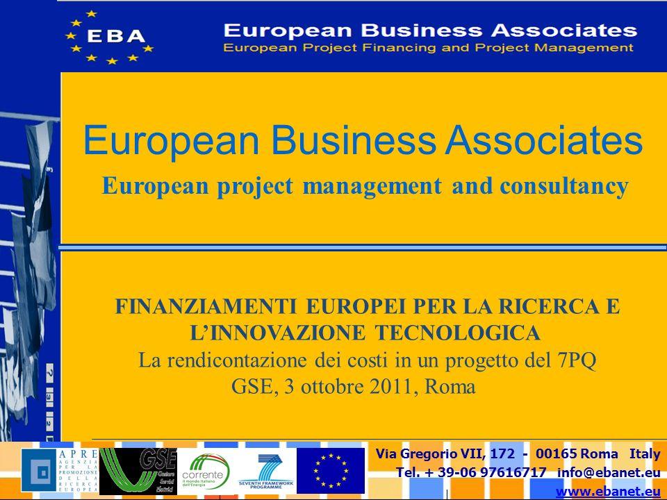Via Gregorio VII, 172 - 00165 Roma Italy Tel.+ 39-06 97616717 info@ebanet.eu www.ebanet.eu 3.