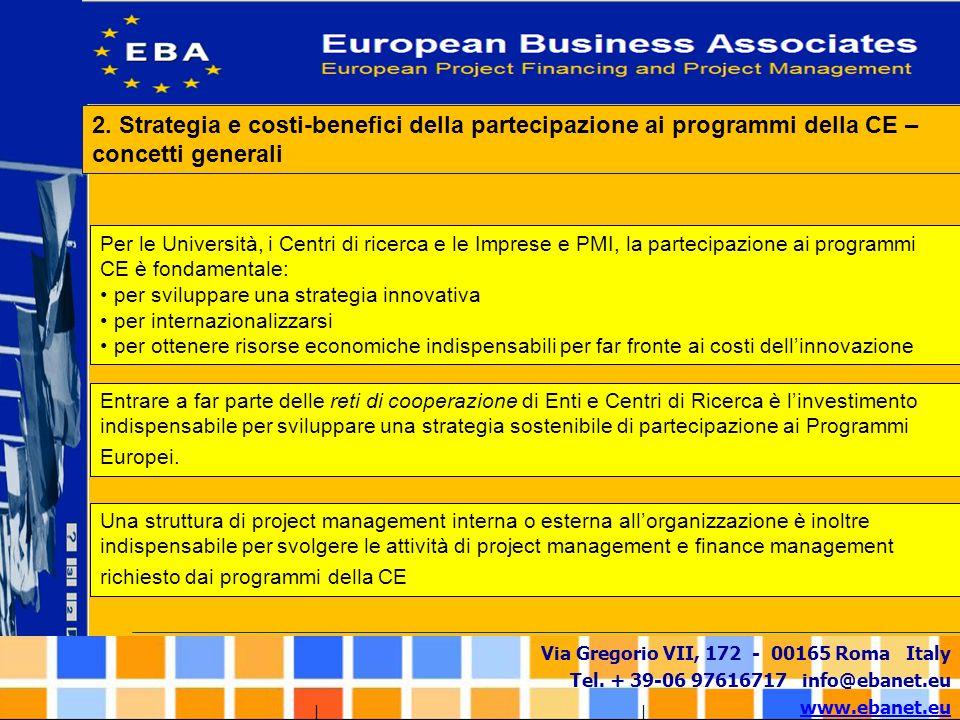 Via Gregorio VII, 172 - 00165 Roma Italy Tel. + 39-06 97616717 info@ebanet.eu www.ebanet.eu Per le Università, i Centri di ricerca e le Imprese e PMI,