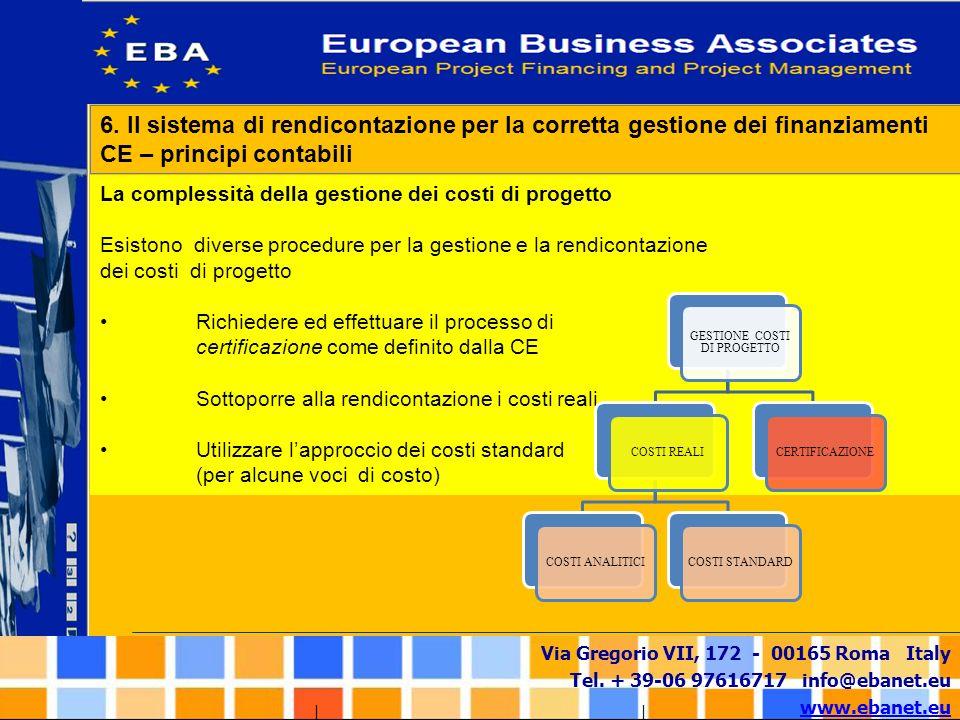 Via Gregorio VII, 172 - 00165 Roma Italy Tel. + 39-06 97616717 info@ebanet.eu www.ebanet.eu La complessità della gestione dei costi di progetto Esisto