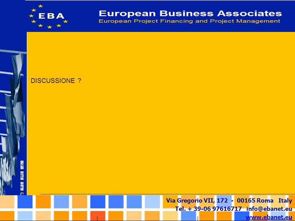 Via Gregorio VII, 172 - 00165 Roma Italy Tel. + 39-06 97616717 info@ebanet.eu www.ebanet.eu DISCUSSIONE ?