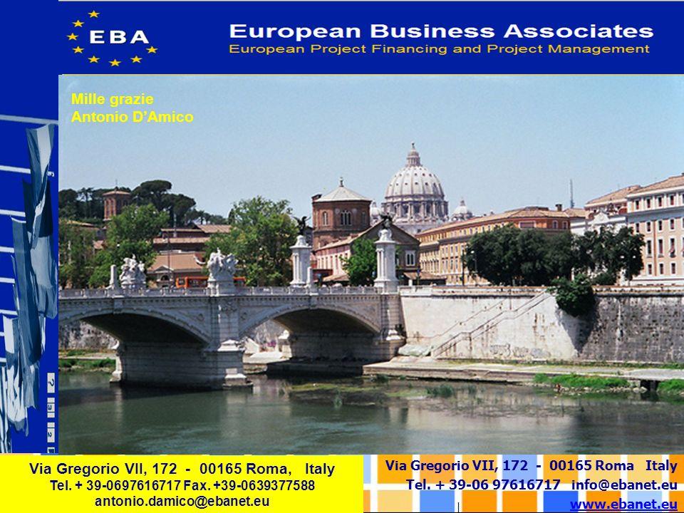Via Gregorio VII, 172 - 00165 Roma Italy Tel. + 39-06 97616717 info@ebanet.eu www.ebanet.eu Via Gregorio VII, 172 - 00165 Roma, Italy Tel. + 39-069761