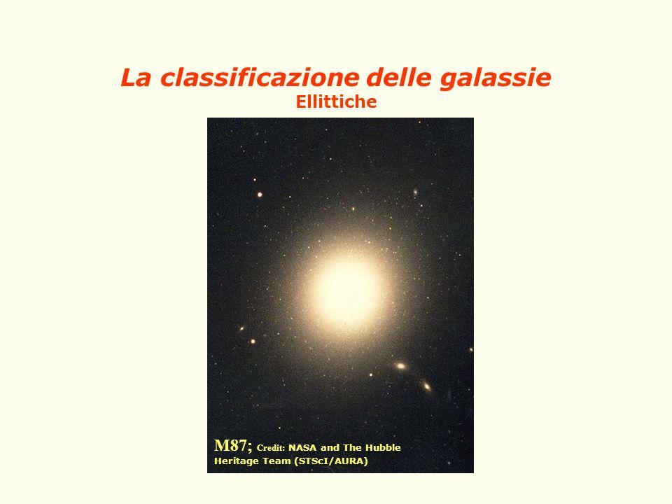 La classificazione delle galassie Ellittiche M87; Credit: NASA and The Hubble Heritage Team (STScI/AURA)