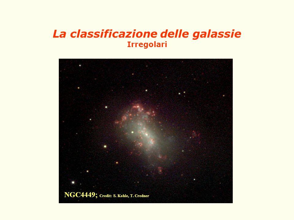 La classificazione delle galassie Irregolari NGC4449; Credit: S. Kohle, T. Credner