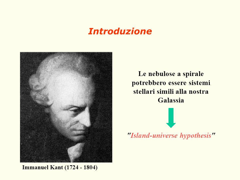 Immanuel Kant (1724 - 1804) Le nebulose a spirale potrebbero essere sistemi stellari simili alla nostra Galassia