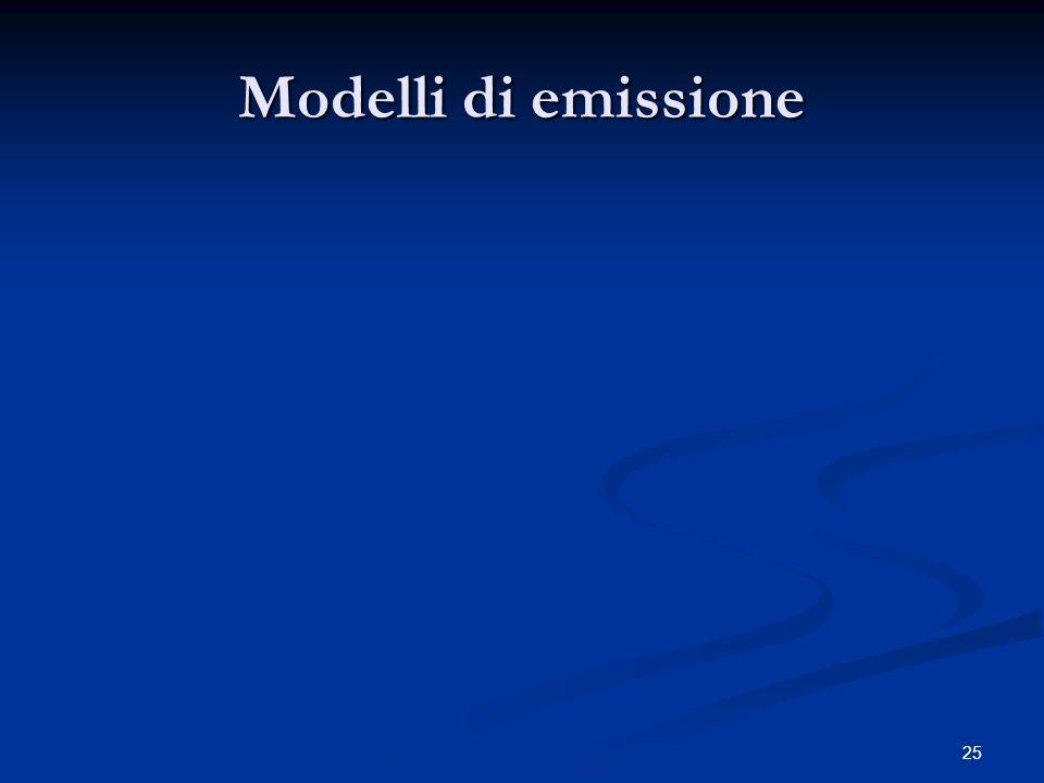 Modelli di emissione 25