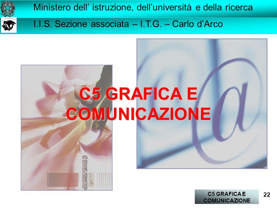 C5 GRAFICA E COMUNICAZIONE 22 I.I.S.Sezione associata – I.T.G.
