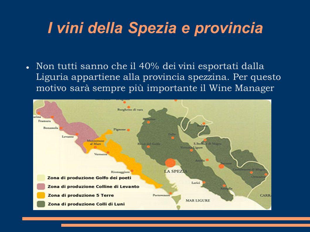 I vini della Spezia e provincia Non tutti sanno che il 40% dei vini esportati dalla Liguria appartiene alla provincia spezzina. Per questo motivo sarà