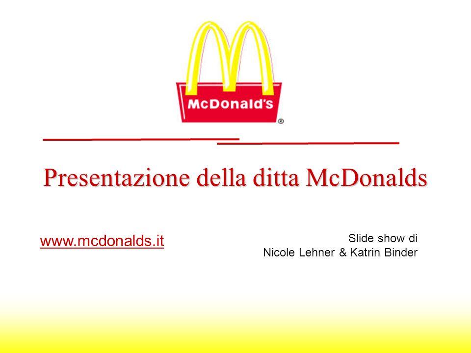 Presentazione della ditta McDonalds www.mcdonalds.it Slide show di Nicole Lehner & Katrin Binder