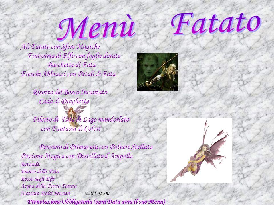 Ali Fatate con Sfere Magiche Finissima di Elfo con foglie dorate Bacchette di Fata Freschi Abbracci con Petali di Fata Risotto del Bosco Incantato Cod