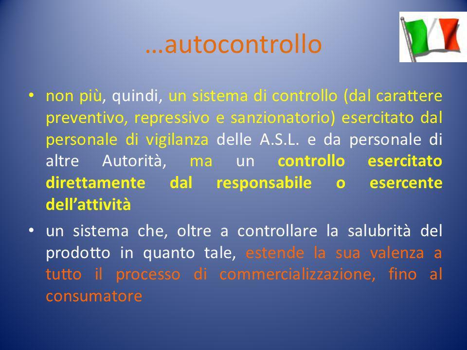 …autocontrollo non più, quindi, un sistema di controllo (dal carattere preventivo, repressivo e sanzionatorio) esercitato dal personale di vigilanza d