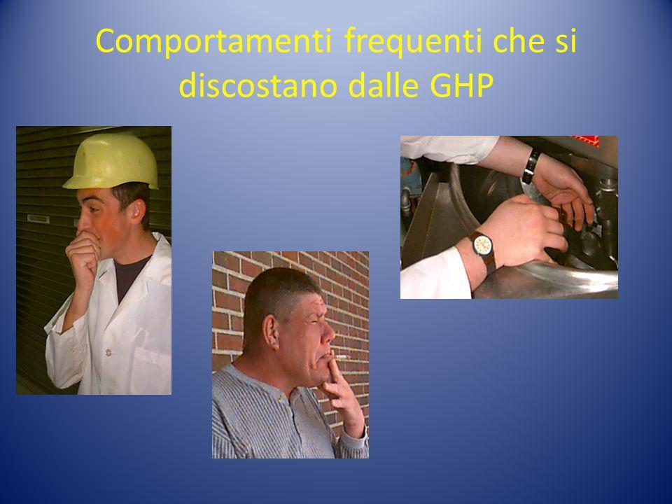 Comportamenti frequenti che si discostano dalle GHP