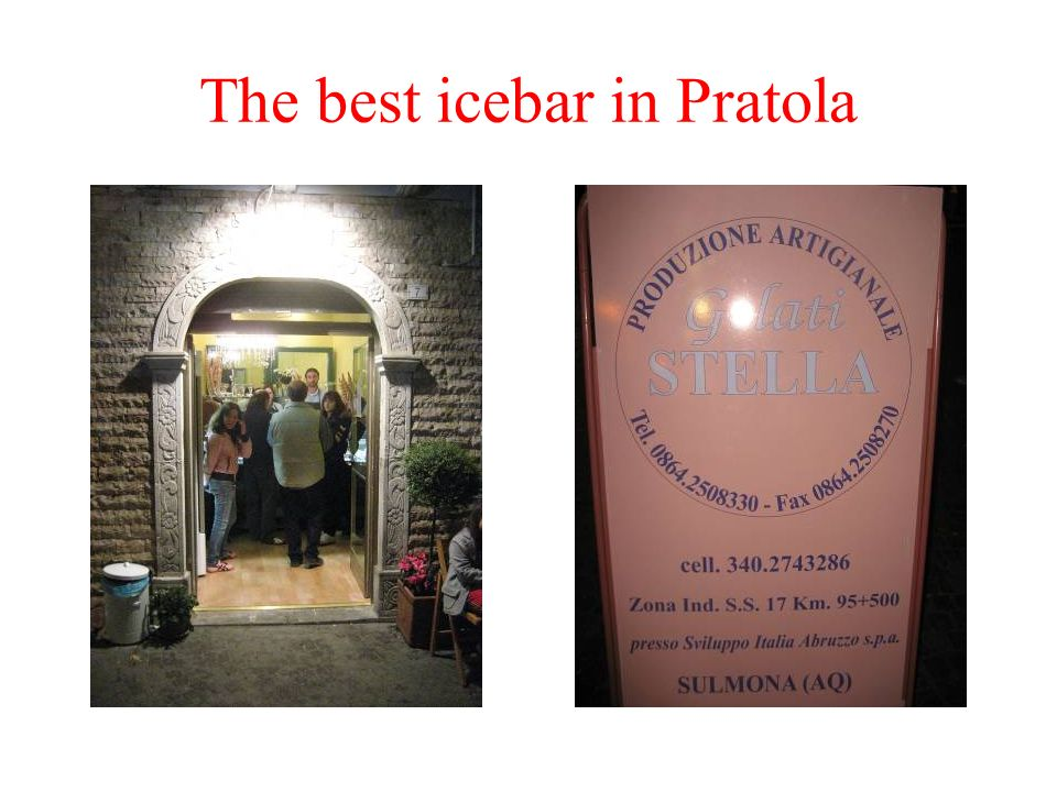 The best icebar in Pratola