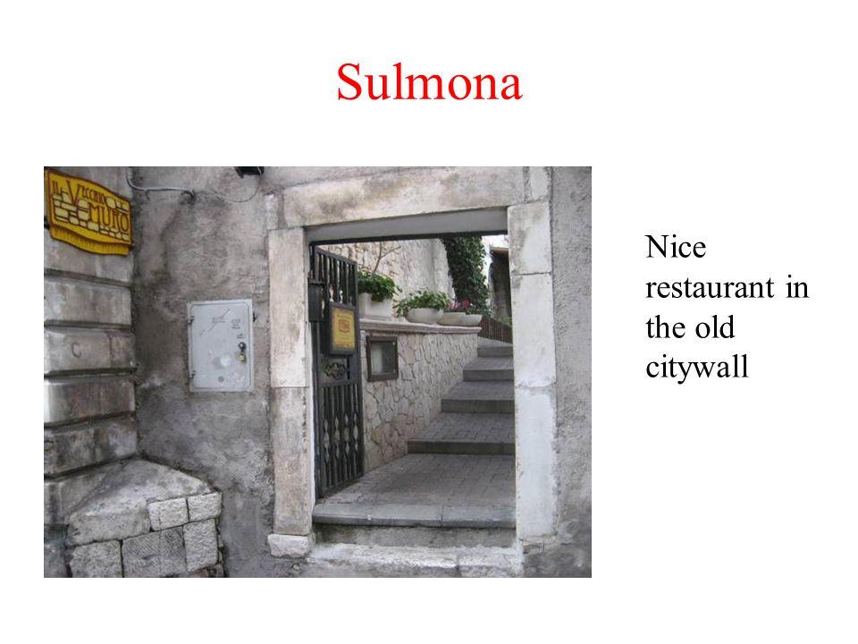 Sulmona: Via Solimo 25 Ristorante Cesidio